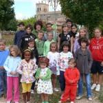 Grupo de niños apadrinadores