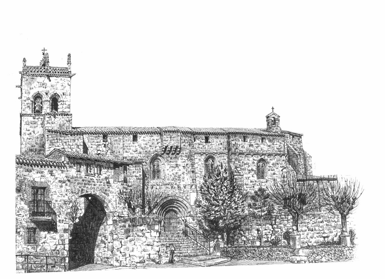 Iglesia a plumilla