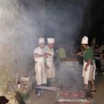 Degustación popular en la plaza