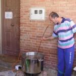 Cociendo las morcillas