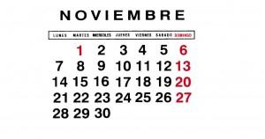 pegatina noviembre